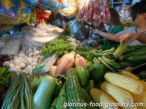 In one of the wet markets or Public Market in the Philippines. Those are the of the available vegetables sold there